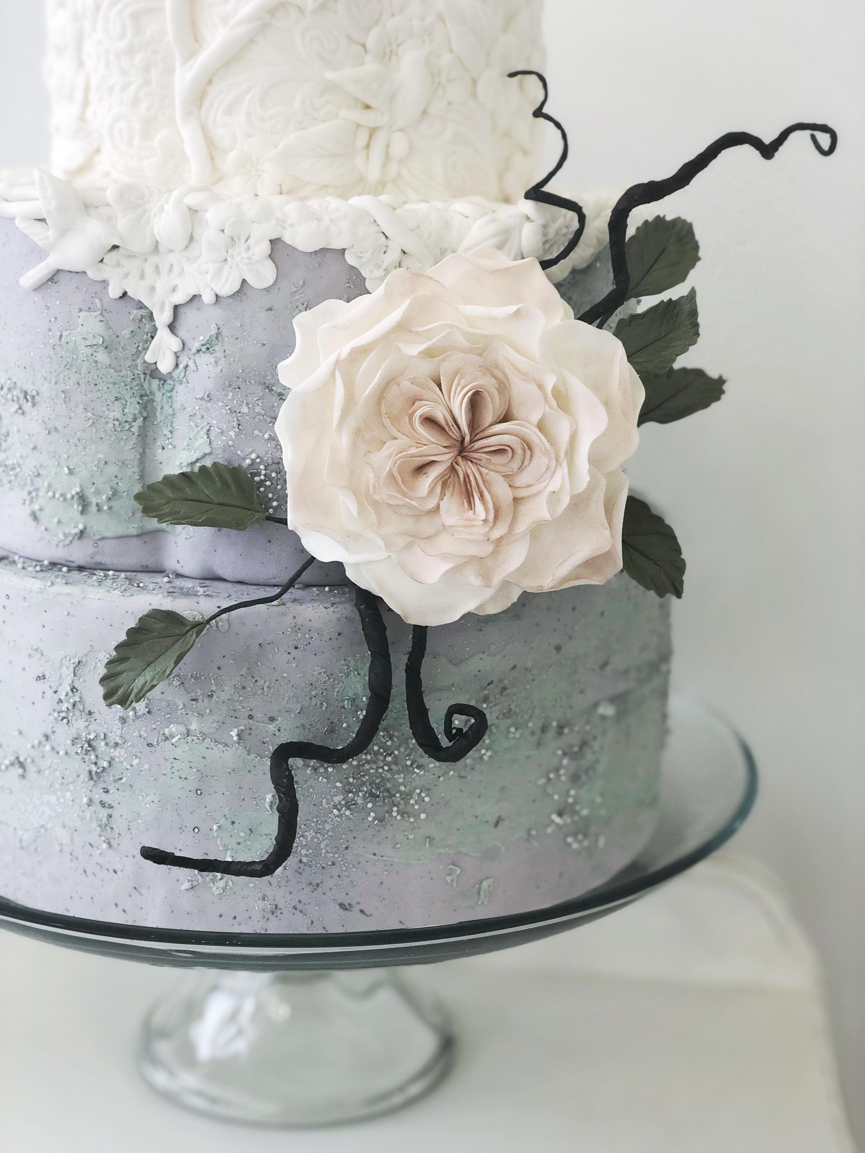 Gumpaste flower detail