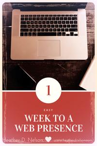 1 Week To A Web Presence