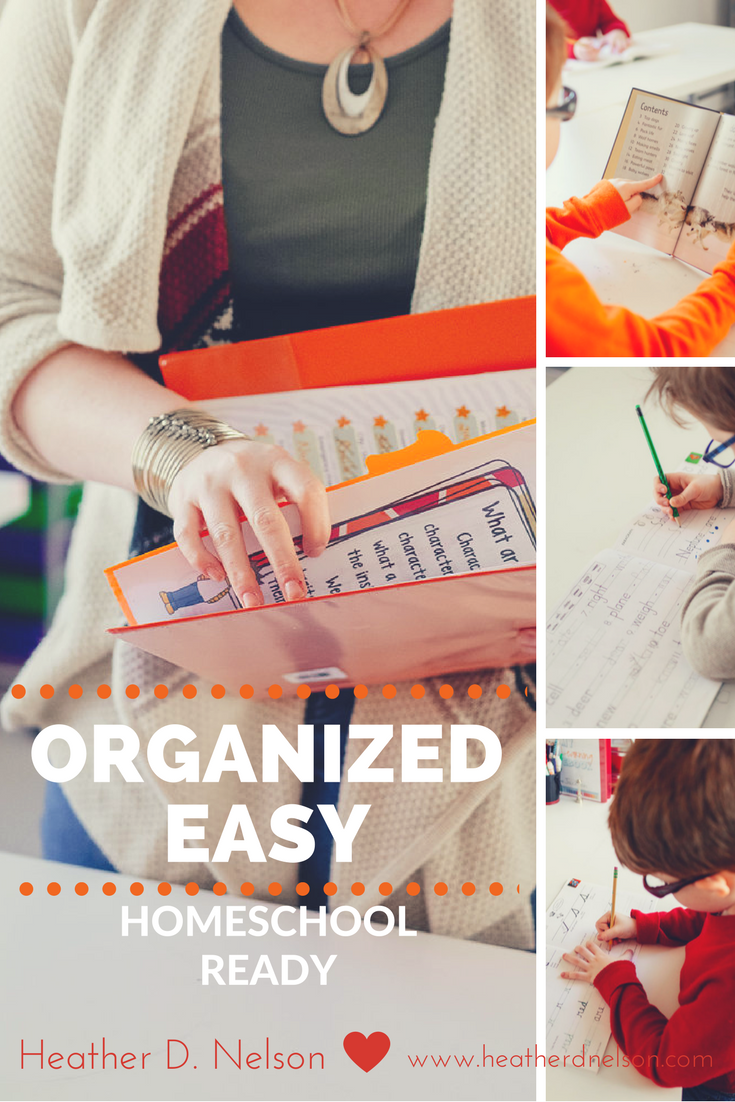 organized homeschool spaces