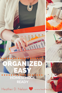 Items to Organize your Space for Homeschooling