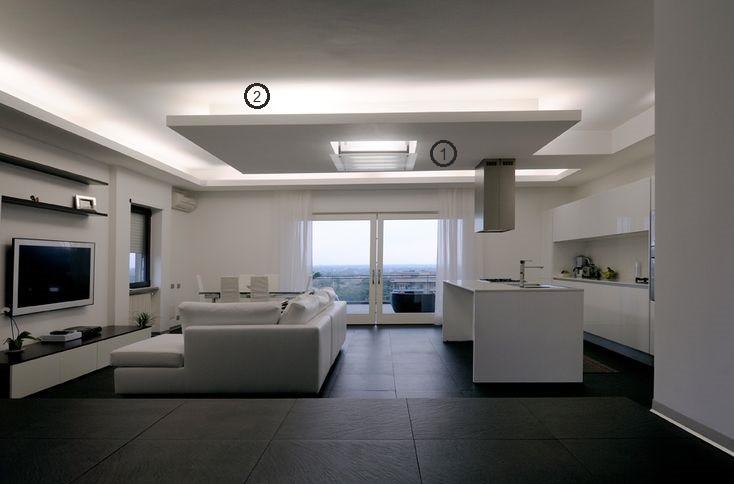 projeto de iluminação de sala de estar: plafon e sanca