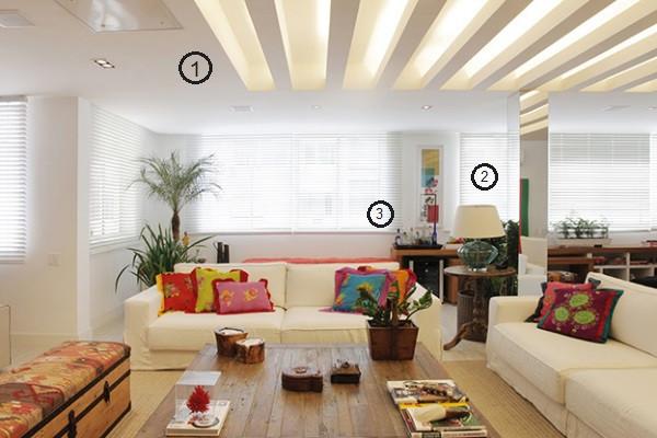 projeto de iluminação de sala de estar: rasgo e luz natural