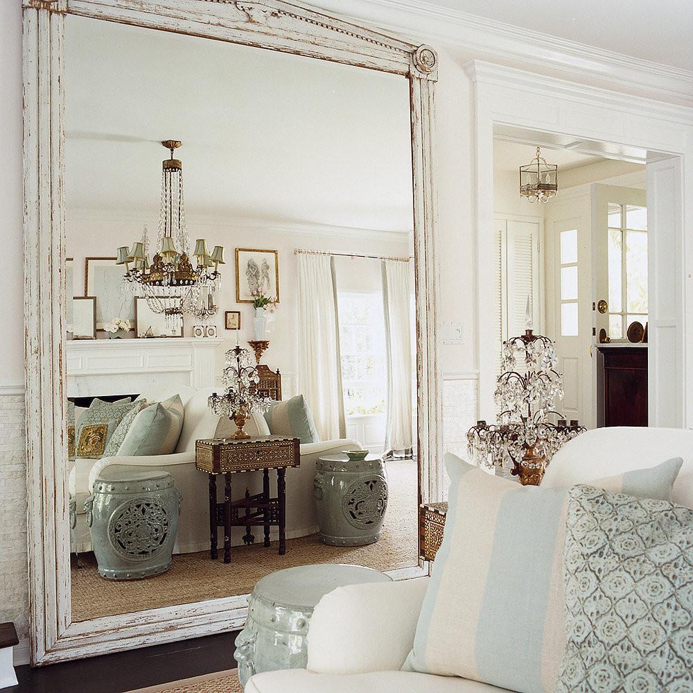 Como usar espelho na decoração: espelho na sala