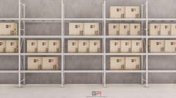 3 estantes con cajas_10 - Foto
