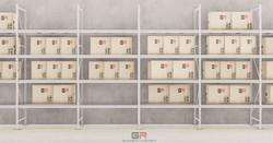 3 estantes con cajas_1 - Foto