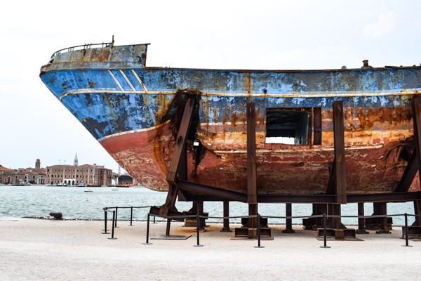 rusted boat