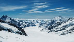 mountain range at noon
