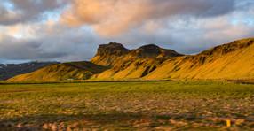 orange mountain range