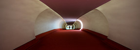 red-carpeted tube