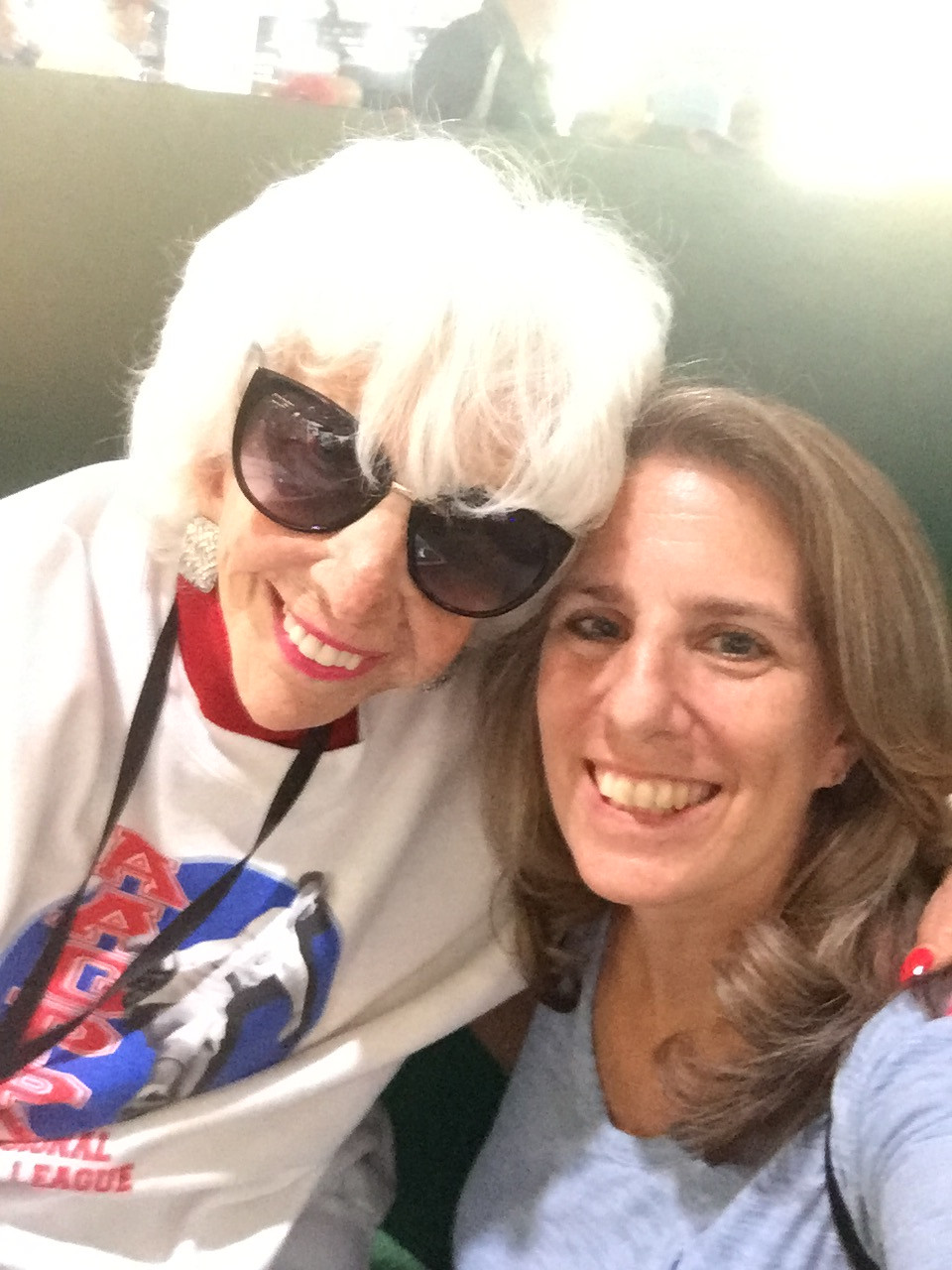Lauren Meyer (Director) and Maybelle Blair (Player from the AAGPBL)