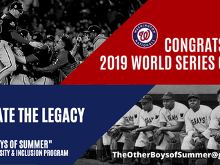 The World Series returns to DC for the first time since The Negro Leagues.