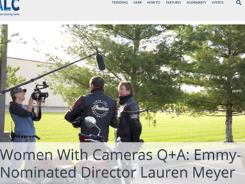 """The Director is featured in """"Women with Cameras"""""""
