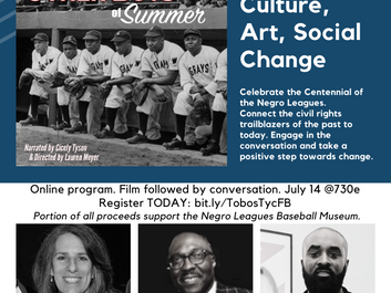 """We """"Tip Our Cap"""" to the Negro Leagues with a virtual program on July 14, 2020."""