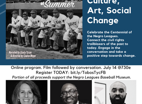 "We ""Tip Our Cap"" to the Negro Leagues with a virtual program on July 14, 2020."