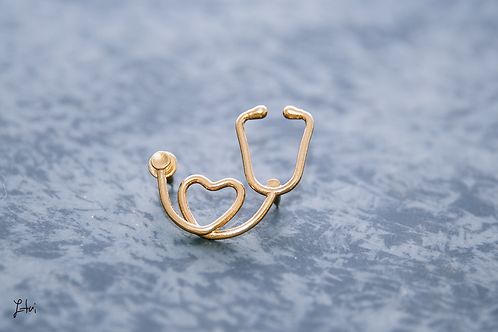 the Stethoscope pin/brooch