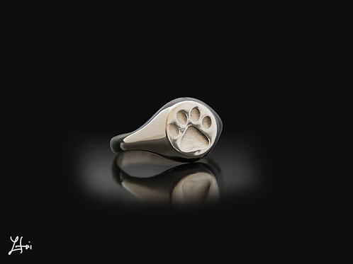the Paw print ring