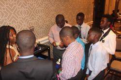 Demonstration of the use of 3D Printer during the breakout session