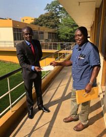 Dr. Edusei Supports Opoku Ware Sec. School Project with 20,000 Ghc