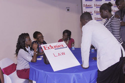 Annette Ofori an attorney and tax expect leading a group discussion