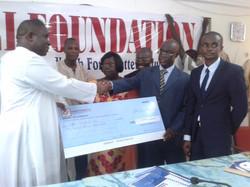Edusei Foundation Donates to Catholic Relief Services