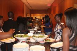 The youth on dinner break