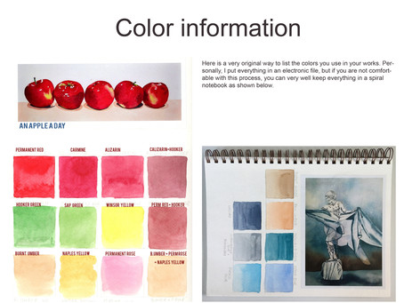 Keep track of colors