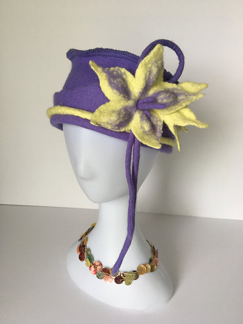 Unique hand felted hat
