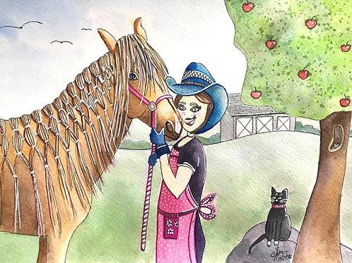 Phonso, my haflinger horse