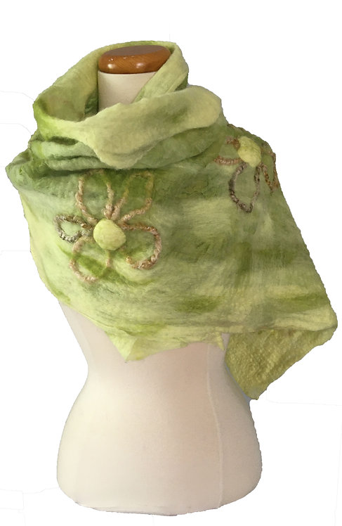 Unique hand felted scarf