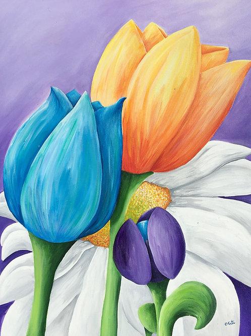 Christiane en fleur