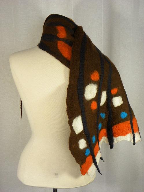 Hand felted Merino wool scarf