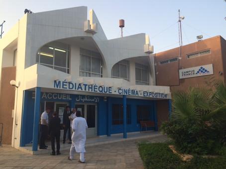 La visite des enfants au centre culturel Français de Nouakchott