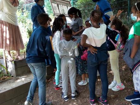La visite des enfants avec l'association Alteralia