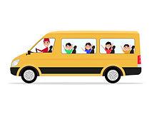 71810884-chauffeur-de-minivan-avec-enfan