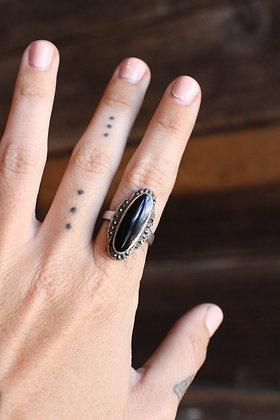 Vintage Onyx Ring | 7