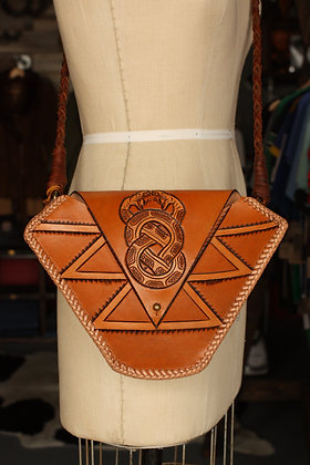 Hags & Hides Handcrafted Tooled Snake Purse