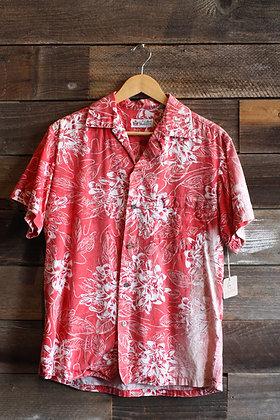 '50s Alfred Shaheen Sunfaded Hawaiian Shirt   Men's M