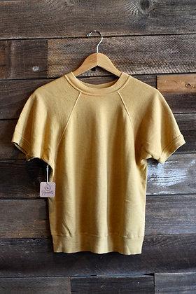 '60s/'70s Mustard Short Sleeve Sweatshirt   Women's M