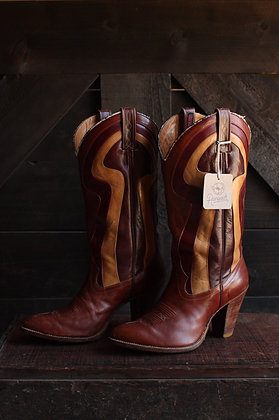 '70s Dingo Heeled Groovy Cowgirl Boots - 7