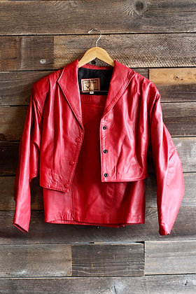 '80s Red Leather Set   S/M