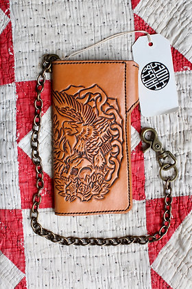 Hags & Hides Tooled Leather Biker Wallet