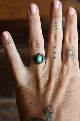 Vintage Turquoise Twist Rope Ring | 4.75