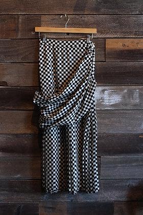 "'80s Versace Check Wool Skirt   S/25"" waist"