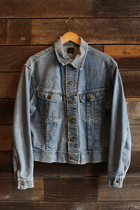 '60s Lee 101-J Lightwash Denim Jacket - Medium / Large