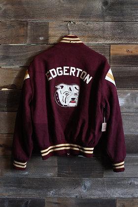 Vintage Edgerton Bulldog Varsity Jacket | Men's L