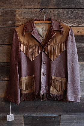 '40s Leather Fringe Jacket | Women's XS