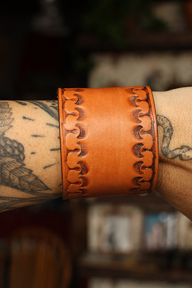 Hags & Hides Handcrafted Leather Cuff