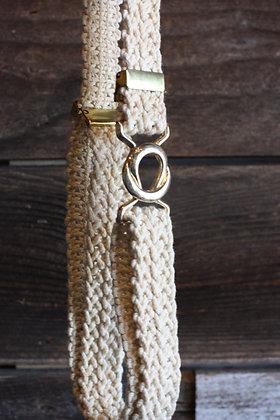 Vintage Macrame Belt | S-L