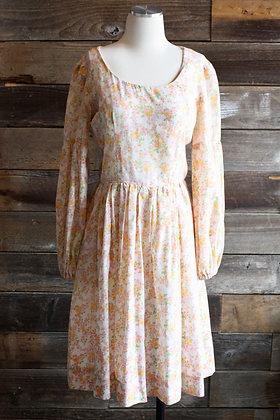 '60s Handmade Prairie Dress | M/L