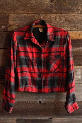 Cropped Plaid Jacket - Women's Large